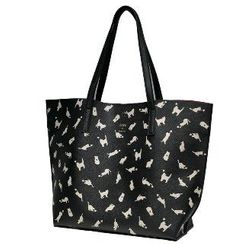 Axixi - Faux-Leather Printed Tote
