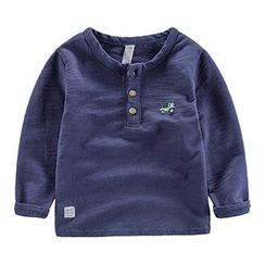 DEARIE - Kids Long-Sleeve Henley Top