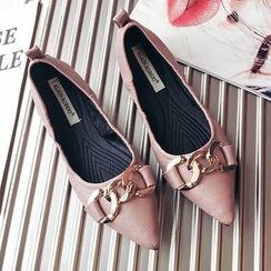 Super ME - Pointy-Toe Paneled Flats
