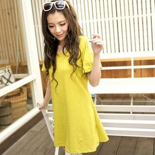 Tokyo Fashion - Shoulder Cutout T-Shirt Dress