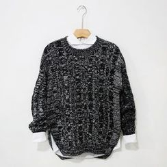 Mr. Cai - Cable-Knit Melange Sweater