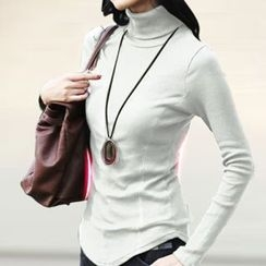 wisperia - Turtleneck Fleece Lined Long-Sleeve T-Shirt