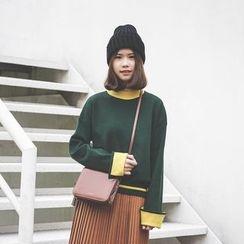 Polaris - Color Block Thick Sweater