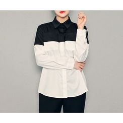 HOTPING - Color-Block Shirt