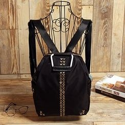 MooMoo Bags - Studded Oxford Backpack