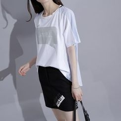 Sonne - Striped-Back Printed T-Shirt