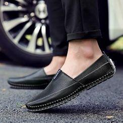 Shino - Genuine-Leather Slip-Ons