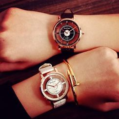 HM - Couple Matching Cutout Strap Watch