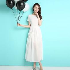 Sonatine - 短袖雪紡連身長裙