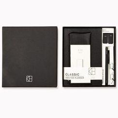 Cute Essentials - Set: Notebook (M) + Pen + Pencil Case