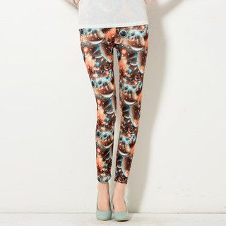 YesStyle Z - Galaxy-Print Leggings