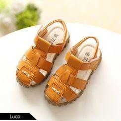 綠豆蛙童鞋 - 小童真皮涼鞋