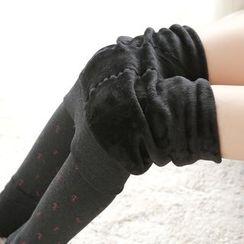 della molla - Fleece Lined Printed Stirrup Leggings