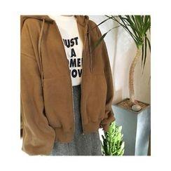 FROMBEGINNING - Fleece-Lined Oversized Hoodie