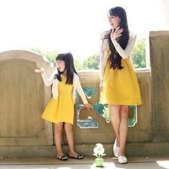 Wind Town - Kids Sleeveless Spaghetti-Strap Dress