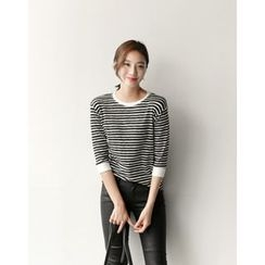 UPTOWNHOLIC - 3/4-Sleeve Striped Top