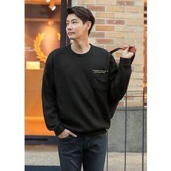GERIO - Pocket-Front Lettering Sweatshirt
