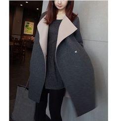 謳若緹 - 雙色針織大衣