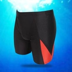 Little Dolphin - Color-Block Swim Shorts