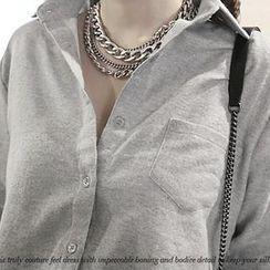 NANING9 - Pocket-Accent Cotton Shirt