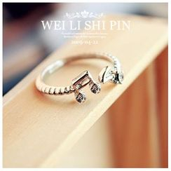Gold Beam - Rhinestone Ring