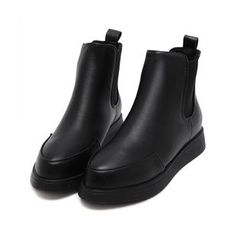 QQ Trend - Faux Leather Ankle Boots