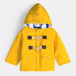 Yobaby - 兒童連帽牛角扣外套