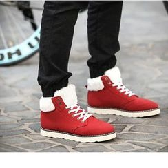 Preppy Boys - Fleece-Lined Paneled Sneakers