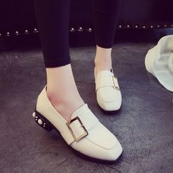 QQ Trend - 缀饰跟饰扣乐福鞋