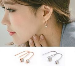 Clair Fashion - Rhinestone Threader Earrings
