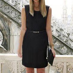 Eloqueen - Sleeveless Shirred Dress