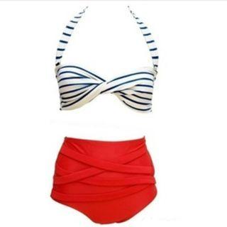 Rivergirl - Striped High Waist Bikini
