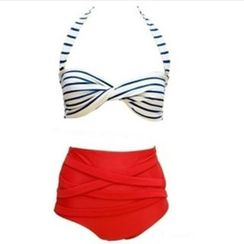 Rivergirl - Striped High Waist Bikini