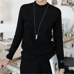 CHICFOX - Mock-Neck Knit Top