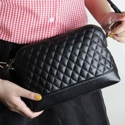 Janice - Genuine Leather Quilted Cross Bag