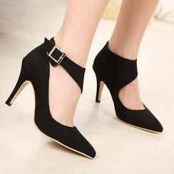 Mancienne - Ankle-Strap Pointy Pumps