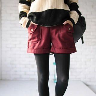 Tokyo Fashion - Belted Pocket-Detail Cuffed Shorts