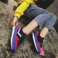 Hipsole - Faux-Suede Color-Block Sneakers