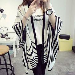 FR - Stripe Knit Poncho