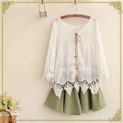 Fairyland - Crocheted Lace-Up Tunic
