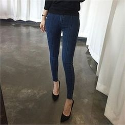 LIPHOP - Seam-Front Skinny Jeans
