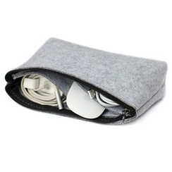 ACE COAT - Felt Zip Accessory Pouch
