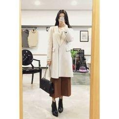 OZNARA - Single-Breasted Wool Blend Coat