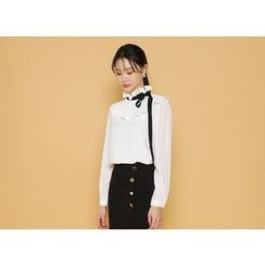 Envy Look - Tie-Neck Frilled Blouse