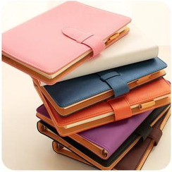 Momoi - Faux Leather Cover Medium Notebook