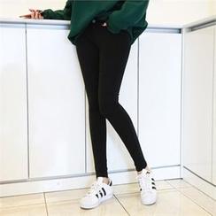 PEPER - Brushed-Fleece Lined Skinny Pants