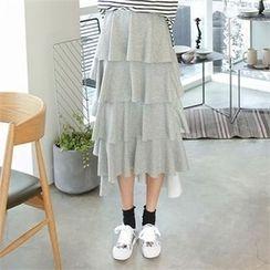 PINKSISLY - Band-Waist Layered Skirt