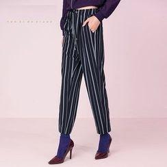 Cloudwood - Striped Drawstring Pants