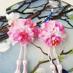 Kiyoha - Tasseled Flower Single Hair Clip