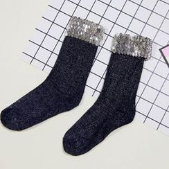SouthBay Shoes - Sequined Socks